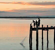 Just Fish'in - Bribie Island by Barbara Burkhardt