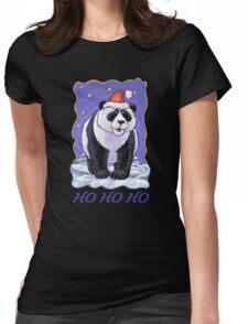 Panda Bear Christmas Card Womens Fitted T-Shirt