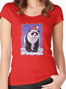 Panda Bear Christmas Women's Fitted Scoop T-Shirt