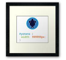 CSS Pun - Yo mama Framed Print