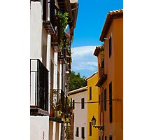 Colorful Street In Granada Spain Photographic Print