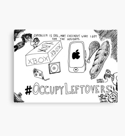 Occupy Leftovers cartoon Canvas Print