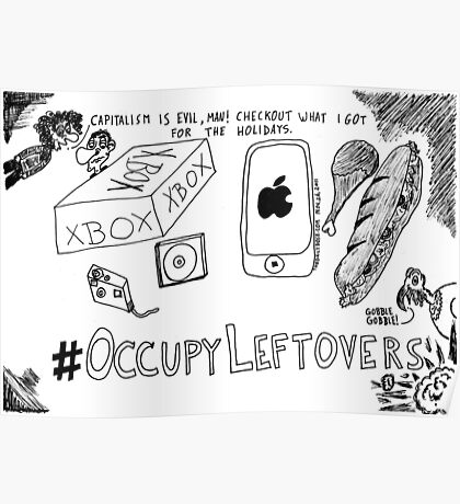 Occupy Leftovers cartoon Poster