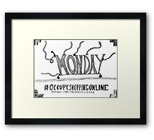 Occupy Cyber Monday cartoon Framed Print