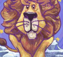 Lion Christmas Card Sticker