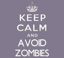 Keep calm and avoid zombies. (text only) Kids Tee