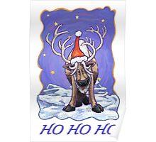 Reindeer Christmas Poster
