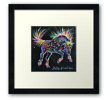 Fireworks Pony Framed Print