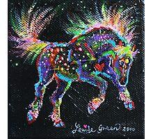 Fireworks Pony Photographic Print