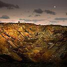 Moonrise over Parys Mountain by Raymond Kerr