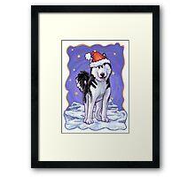 Husky Christmas Framed Print