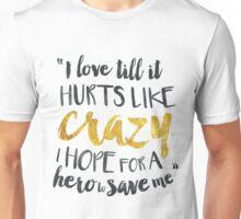 Idina Menzel I Stand Typography Lyrics Unisex T-Shirt