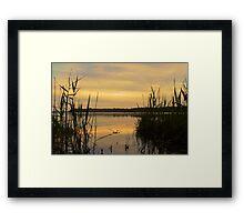 Lake Munmorah Framed Print