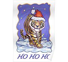 Tiger Christmas Card Poster