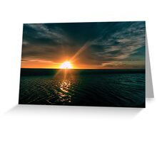 Into The Setting Sun Greeting Card
