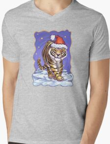 Tiger Christmas Mens V-Neck T-Shirt