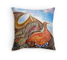 Ponding chicken Throw Pillow