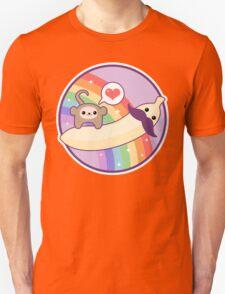 Mustache Banana Monkey Unisex T-Shirt