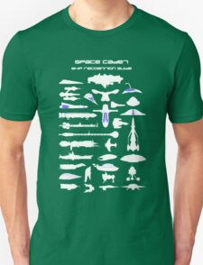Space Cadet Ship Recognition Guide - Blue Unisex T-Shirt