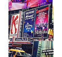 Times Square Palace Theatre Photographic Print