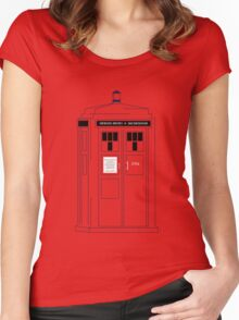 221b Public Phone Box Women's Fitted Scoop T-Shirt