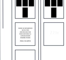 221b Public Phone Box Sticker