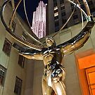 USA. New York. Manhattan. Statue at the Rockefeller Center. by vadim19
