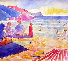 Beach Scene, Muizenberg, South Africa by Gregory Pastoll