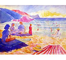 Beach Scene, Muizenberg, South Africa Photographic Print
