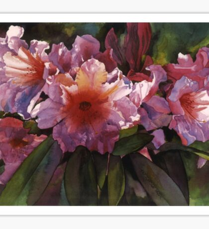 "Watercolor ""Autumn Gold"" Rhododendron  Sticker"