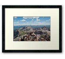 14,000 Ft Plank! ~ On Mount Sneffels  Framed Print