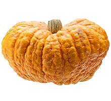 Orange pumpkin isolated on white background. Photographic Print