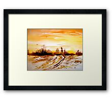 A Tranquil Hour... Framed Print
