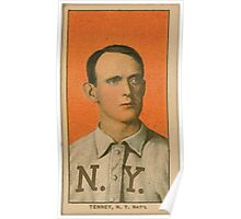 Benjamin K Edwards Collection Fred Tenney New York Giants baseball card portrait 001 Poster