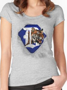Tigers Baseball  Women's Fitted Scoop T-Shirt