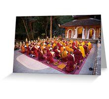 Evening chanting, Wat Palad, Chiang Mai, Thaiiand Greeting Card
