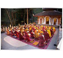 Evening chanting, Wat Palad, Chiang Mai, Thaiiand Poster