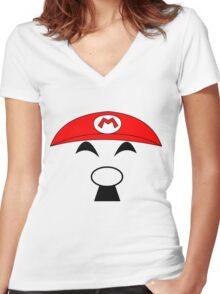 Super Hitler Mario Women's Fitted V-Neck T-Shirt