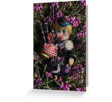 Scotty in the Bell Heather Greeting Card