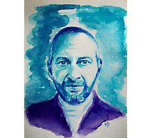 Portrait de Colin... watercolor Photographic Print