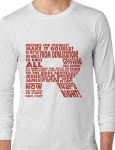 Team Rocket R Typography Long Sleeve T-Shirt