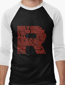 Team Rocket R Typography Men's Baseball ¾ T-Shirt