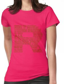 Team Rocket R Typography Womens Fitted T-Shirt