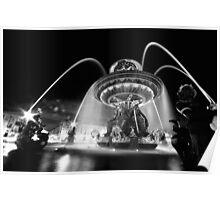 Nuit à Place de la Concorde Poster