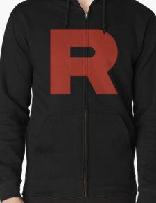 Team Rocket R Zipped Hoodie