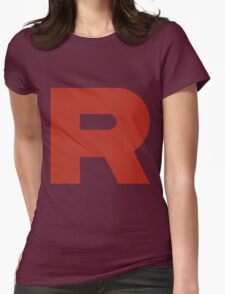 Team Rocket R Womens Fitted T-Shirt