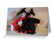 Zoe and Zeta, Mini Witches Greeting Card