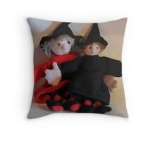 Zoe and Zeta, Mini Witches Throw Pillow