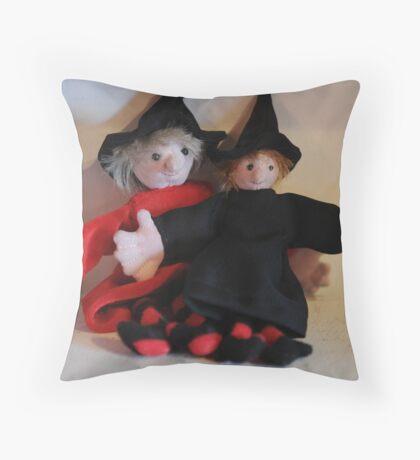 Zoe and Zeta, Mini Witches Throw Pillow