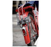 la bicletta rouge à Le Marais Poster